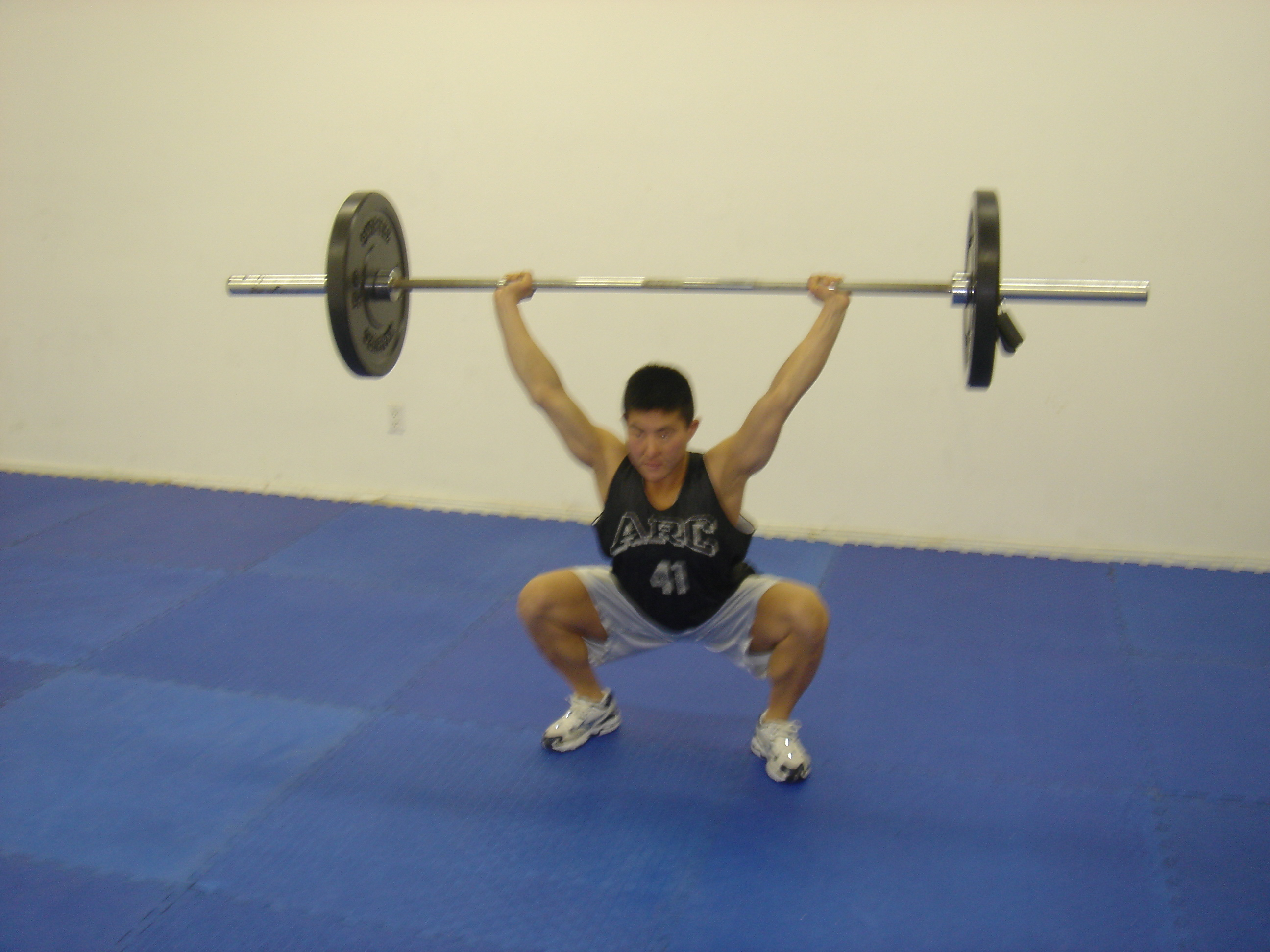 ...and the first overhead squat...